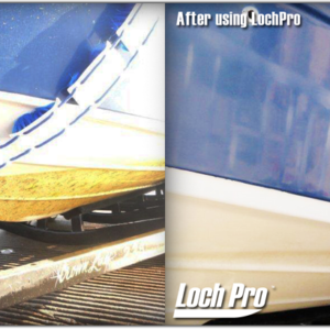 Boat hull cleaning brush before and after